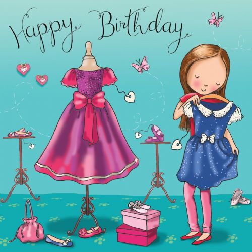 TW668 - Happy Birthday Card Dresses